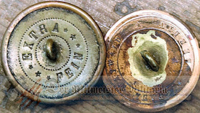 GOLD FELDWEBEL COLLAR DISCS - PRUSSIA - Imperial German Military Antiques Sale