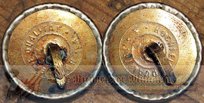 SILVER FELDWEBEL COLLAR DISCS - PRUSSIA - Imperial German Military Antiques Sale