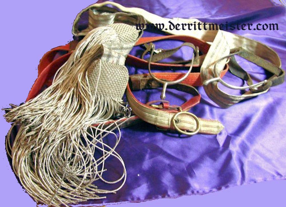 GERMANY - DRESS BELT/SASH - SWORD BELT - SPUR ENSEMBLE - OFFICER - Imperial German Military Antiques Sale