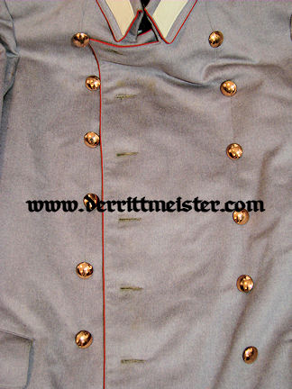 IDENTIFIED INFANTERIE-REGIMENT Nr 76 OFFICER'S HELLGRAU LITEWKA & TROUSERS - PRUSSIA - Imperial German Military Antiques Sale