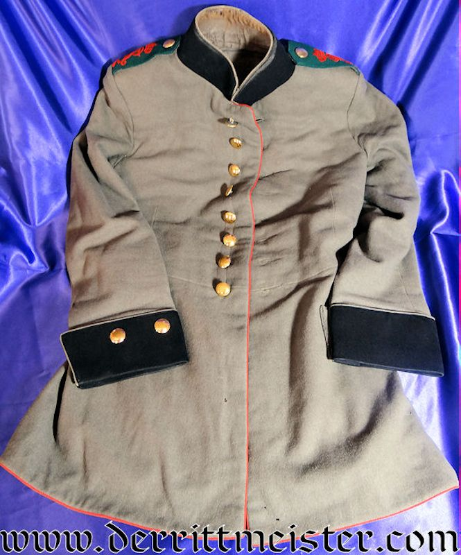 ENLISTED FELDARTILLERIE Nr 32 SOLDIER'S 1915 FELDGRAU (FRIEDENSUNIFORM) TUNIC - SAXONY - Imperial German Military Antiques Sale