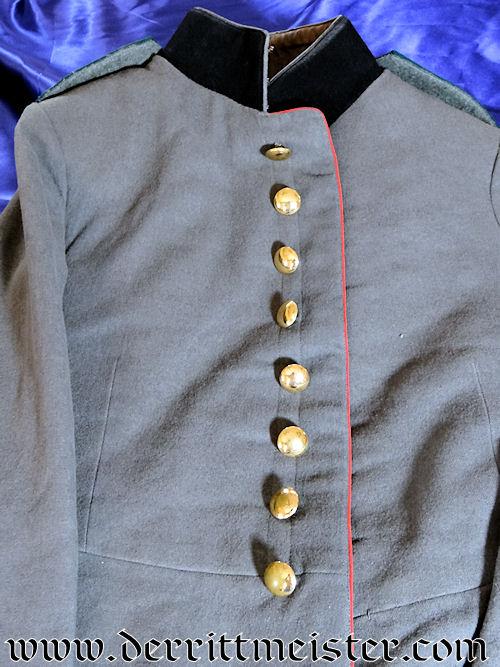 ENLISTED FELDARTILLERIE Nr 32 SOLDIER'S 1915 FELDGRAU (FRIEDENSUNIFORM) TUNIC - SAXONY - Imperial German Military Antiques Sale