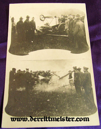 USA - FRENCH TROOPS - CRASHED AIRPLANE - Imperial German Military Antiques Sale