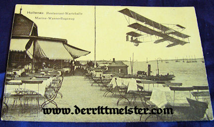 POSTCARD - AIRPLANE FLYING OVER HOTEL - RESTAURANT - Imperial German Military Antiques Sale