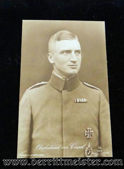 SANKE CARD Nr 424 - OBERLEUTNANT MAX von COSSEL - Imperial German Military Antiques Sale