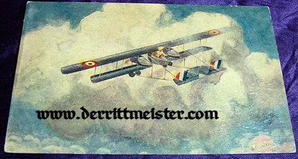 "HIGH-QUALITY ""OILETTE"" POSTCARD - BRITISH AIRPLANE - Imperial German Military Antiques Sale"