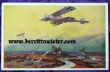 COLOR POSTCARD - GERMAN AIRPLANES - FRONT - Imperial German Military Antiques Sale