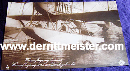 NPG POSTCARD Nr 167 - SEAPLANE - WHEELED OUT - WATER - Imperial German Military Antiques Sale