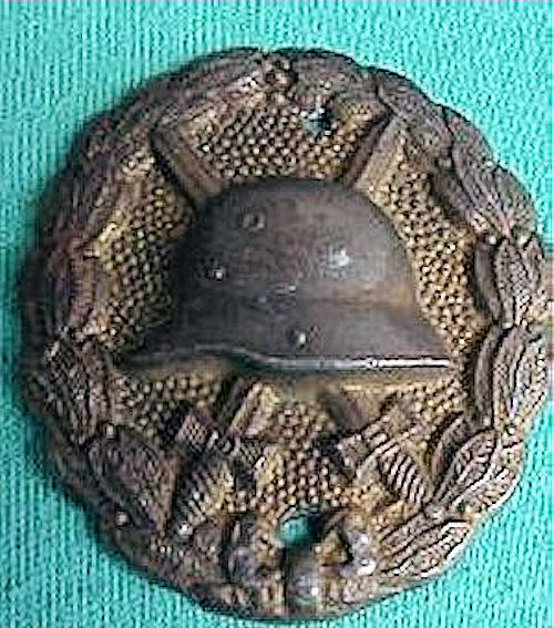 ARMY WOUND BADGE - GOLD - Imperial German Military Antiques Sale