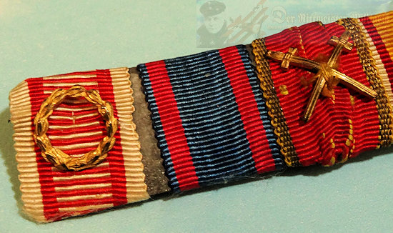 RIBBON BAR - FIVE-PLACE - Imperial German Military Antiques Sale