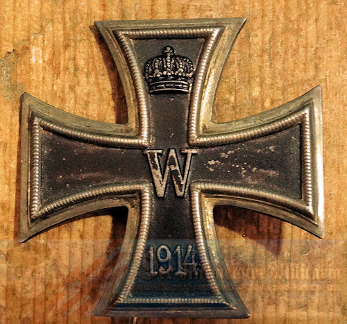 PRUSSIA - IRON CROSS - 1st CLASS - 1914 - KO HALLMARK - ENGRAVED - Imperial German Military Antiques Sale
