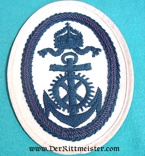 RATING PATCH FOR NAVY OBER-INGENIEUR APPLIKANT'S SUMMER TUNIC - Imperial German Military Antiques Sale