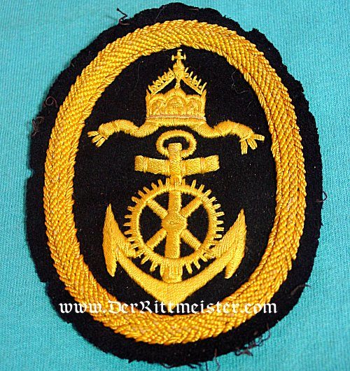 RATING PATCH FOR NAVY OBER-INGENIER APPLIKANT'S WINTER TUNIC - Imperial German Military Antiques Sale