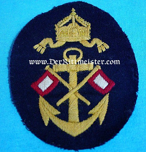 RATING PATCH FOR NAVY OBER-SIGNALMAAT'S WINTER TUNIC - Imperial German Military Antiques Sale