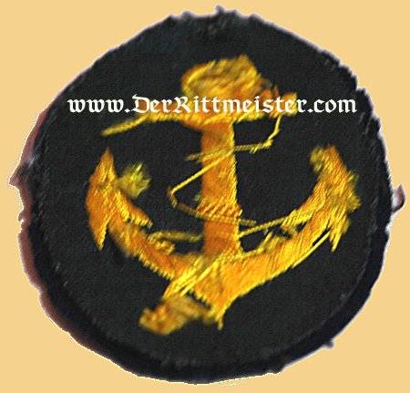 RATING PATCH FOR REICHSMARINE ORDINARY SEAMAN - Imperial German Military Antiques Sale