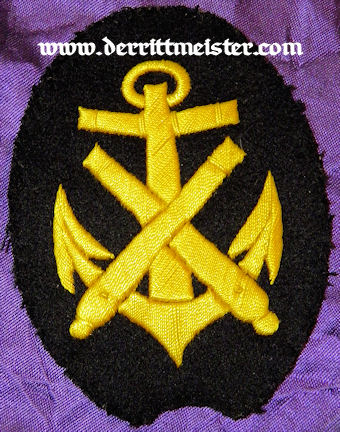 ENLISTED SAILOR'S SHIPBOARD ARTILLERIE UNIFORM SLEEVE PATCH - Imperial German Military Antiques Sale