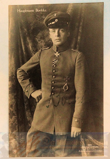 SANKE CARD - HAUPTMANN OSWALD BOELCKE - AUTOGRAPHED - NR 363. - Imperial German Military Antiques Sale