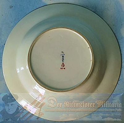 KAISER WILHELM II - SOUP BOWL - S.M.Y. HOHENZOLLERN - Imperial German Military Antiques Sale