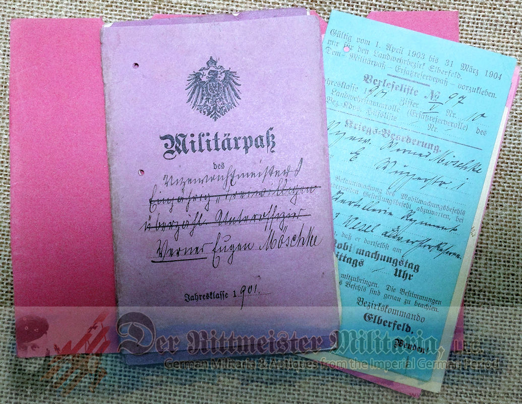 DOCUMENT AND PHOTO GROUP - LUFTSCHIFFER OFFICER'S - Imperial German Military Antiques Sale