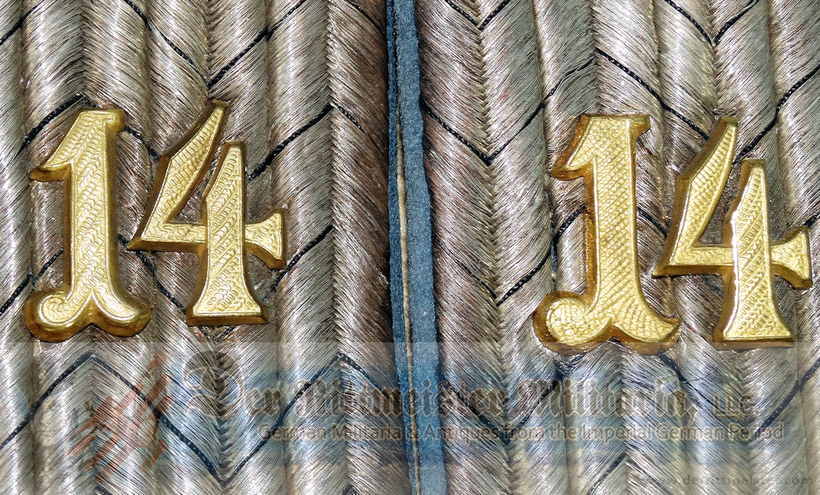 BADEN - SHOULDER BOARD - LEUTNANT - TRAIN-ABTEILUNG Nr 14 - Imperial German Military Antiques Sale