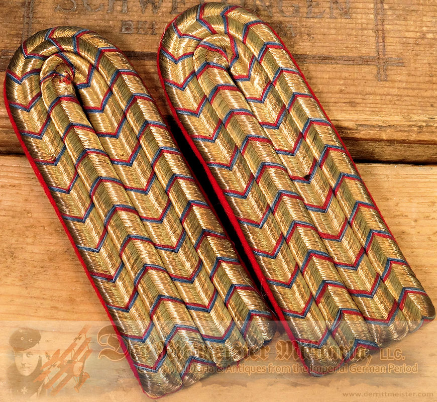 LINE-INFANTERIE-REGIMENT LEUTNANT'S SHOULDER BOARDS - WÜRTTEMBERG - Imperial German Military Antiques Sale