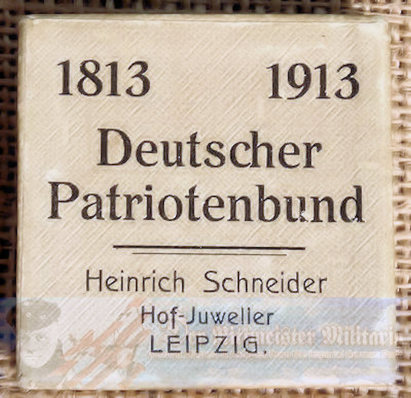 TABLE MEDAL - COMMEMORATING LEIPZIG'S VÖLKERSCHLACHT DENKMAL DEDICATION - Imperial German Military Antiques Sale