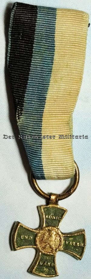 MINIATURE OF THE MILITARY MEDAL FOR OFFICERS & ENLISTED MEN OF 1813-1815 - BAVARIA - Imperial German Military Antiques Sale