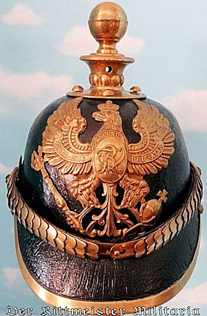 IDENTIFIED M-1867 ENLISTED MAN'S KUGELHELM - PRUSSIA - Imperial German Military Antiques Sale
