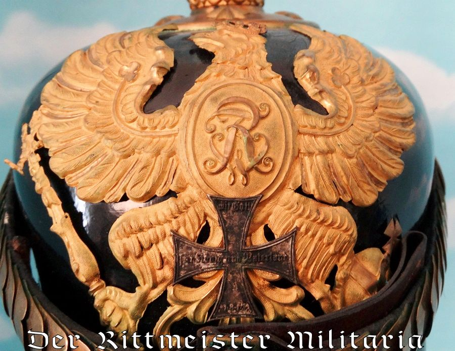 "PRUSSIA - KUEGELHELM - RESERVE OFFICER - ARTILLERIE -  WITH ""FRW"" WAPPEN - Imperial German Military Antiques Sale"