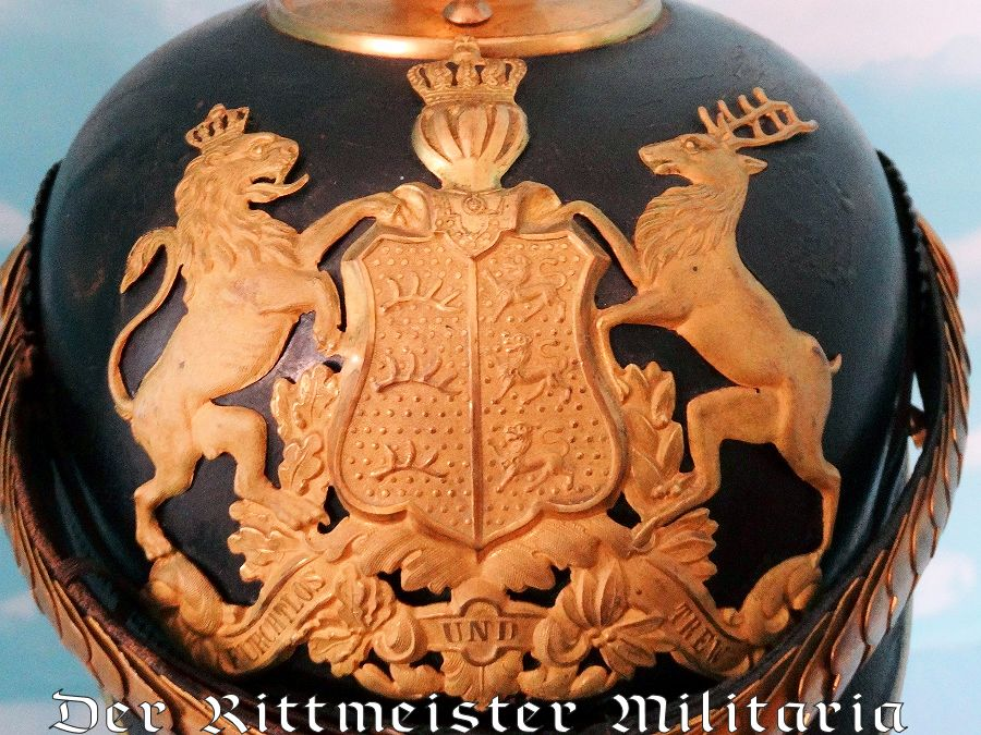 WÜRTTEMBERG -  KUGELHELM - ONE-YEAR-VOLUNTEER - LINE-ARTILLERIE-REGIMENT - Imperial German Military Antiques Sale