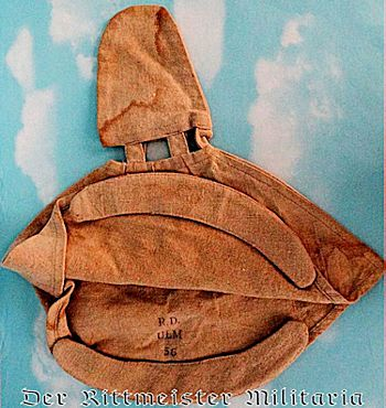 COTTON FOUL WEATHER KUGELHELM COVER - Imperial German Military Antiques Sale
