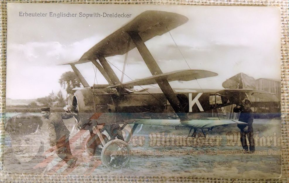 SANKE CARD OF BRITISH SOPWITH TRIPLANE - Imperial German Military Antiques Sale