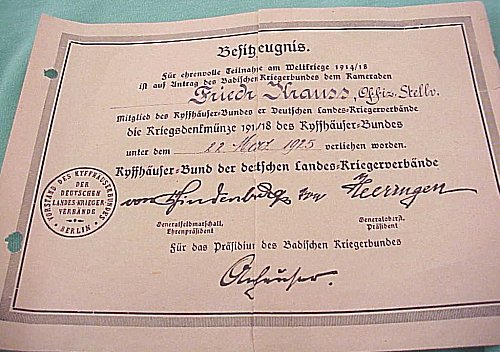 DOCUMENT GROUP TO AN OFFICER - Imperial German Military Antiques Sale