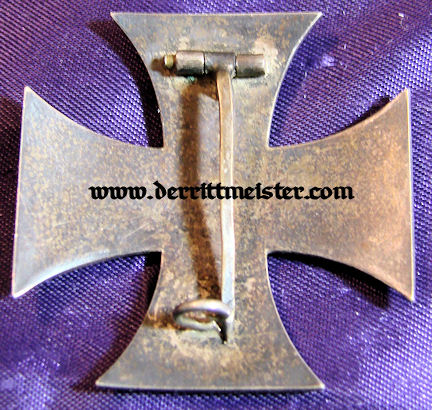 AWARD DOCUMENT - DECORATION - 1914 IRON CROSS 1st CLASS - Imperial German Military Antiques Sale