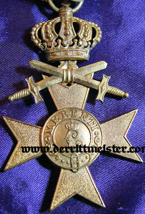 AWARD DOCUMENT & DECORATION - MILITARY SERVICE CROSS 3rd CLASS - CROWN AND SWORDS BAVARIA - Imperial German Military Antiques Sale