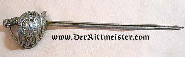 MINIATURE OF THE SWORD OF OTTO von BISMARCK - Imperial German Military Antiques Sale