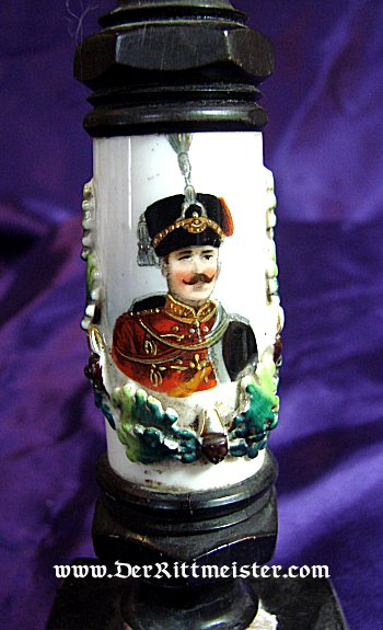 DESK PIECE - HUSSAR PIPEHEAD - Imperial German Military Antiques Sale