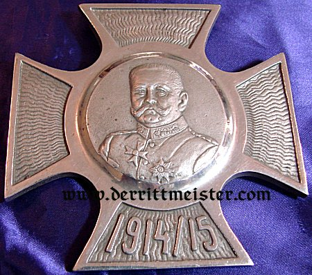 HINDENBURG/IRON CROSS DESK PIECE - Imperial German Military Antiques Sale