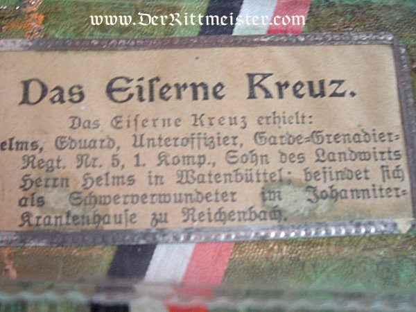 GLASS PAPERWEIGHT FOR THE IRON CROSS 2nd CLASS - Imperial German Military Antiques Sale