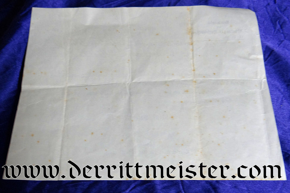 DOCUMENT APPROVING THREE-YEAR-ENLISTMENT IN THE KAISERLICHE MARINE - Imperial German Military Antiques Sale