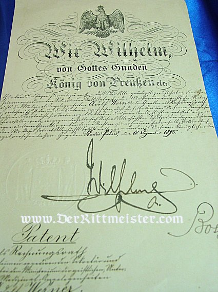 DOCUMENT GROUP FOR AN OFFICER SERVING IN GARDE-ARTILLERIE-REGIMENT - Imperial German Military Antiques Sale