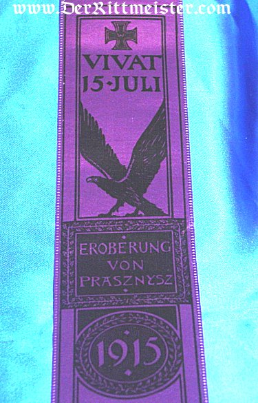 VIVAT RIBBON - BATTLE OF PRASZNYSZ - Imperial German Military Antiques Sale