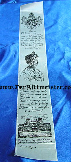 VIVAT RIBBON - KAISERIN AUGUSTA VIKTORIA - Imperial German Military Antiques Sale