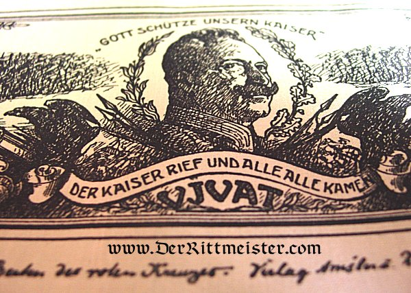 VIVAT RIBBON - KAISER WILHELM II - Imperial German Military Antiques Sale