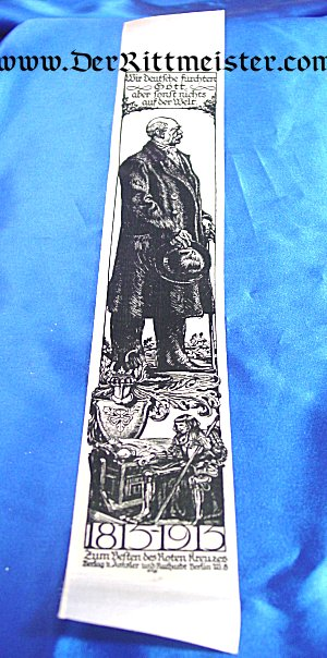VIVAT RIBBON - 100th ANNIVERSARY - OTTO von BISMARCK'S BIRTH - Imperial German Military Antiques Sale