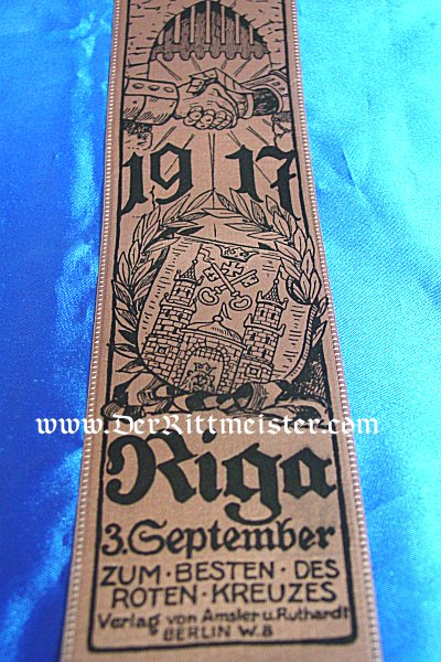 VIVAT RIBBON - BATTLE OF RIGA - Imperial German Military Antiques Sale