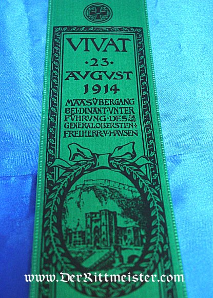 VIVAT RIBBON - GENERALOBERST von HANSEN AND THE BATTLE OF DINANT - Imperial German Military Antiques Sale