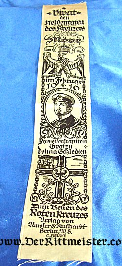 VIVAT RIBBON - S. M. S. MÖWE - Imperial German Military Antiques Sale