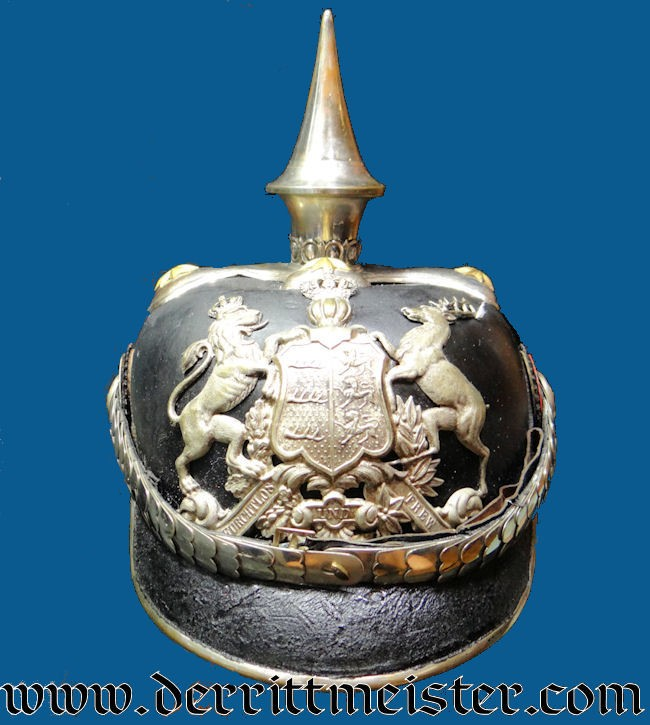 WÜRTTEMBERG ARMY ZAHLMEISTER PICKELHAUBE - Imperial German Military Antiques Sale