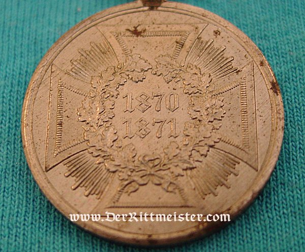 FRANCO PRUSSIAN-WAR NON COMBATANT'S WAR SERVICE MEDAL - Imperial German Military Antiques Sale
